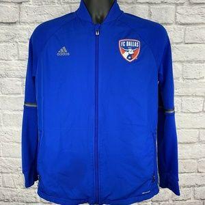 Adidas Blue Full Zip F.C. Dallas MLS Soccer Jacket